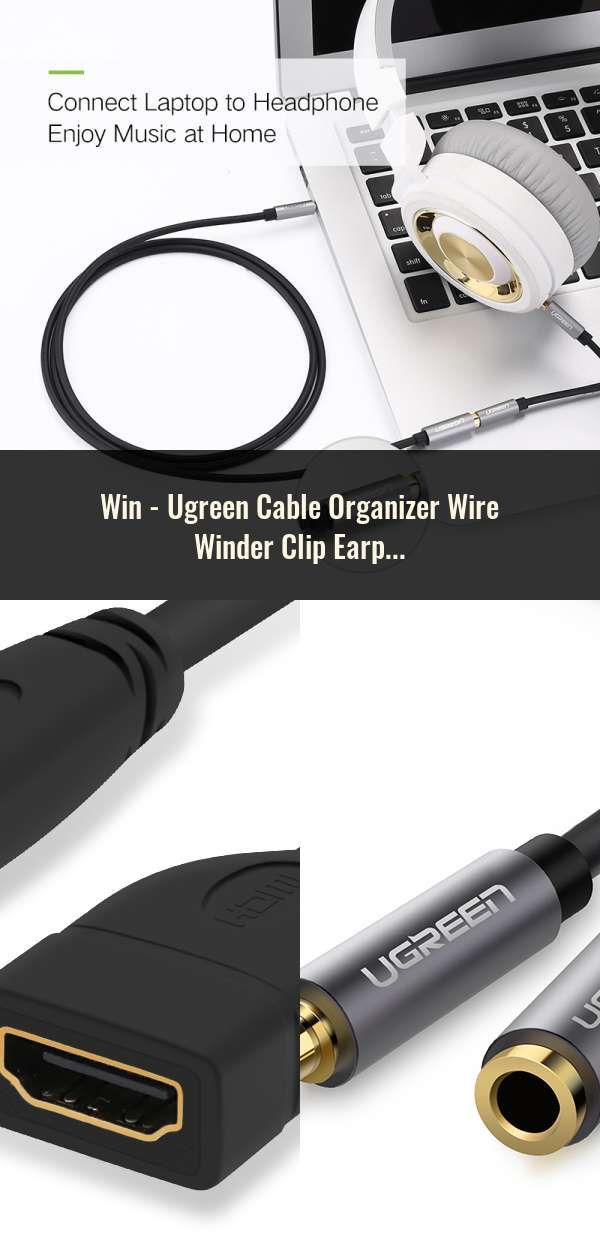 Ugreen Cable Organizer Wire Winder Clip Earphone Holder Mouse Cord Protector