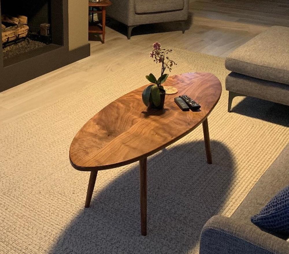 Mid Century Modern Surfboard Top Coffee Table Solid Walnut Etsy Mid Century Modern Coffee Table Coffee Table Surfboard Coffee Table [ 879 x 1000 Pixel ]