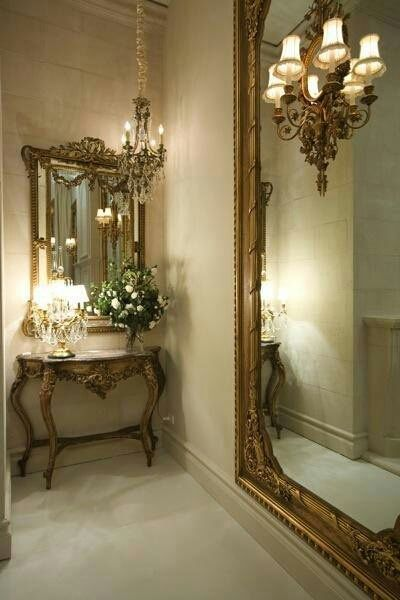 I Could Make The Table And Mirrors Work In An Old World Style Home So Beautiful Home Home Decor Decor