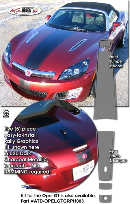 Rally Stripe Graphic Kits For Saturn SKY/Opel GT That Are Precut And Ready  To