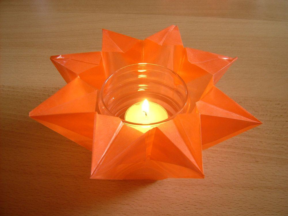 teelichter basteln fertig ist der teelicht stern zu weihnachten transparentpapier