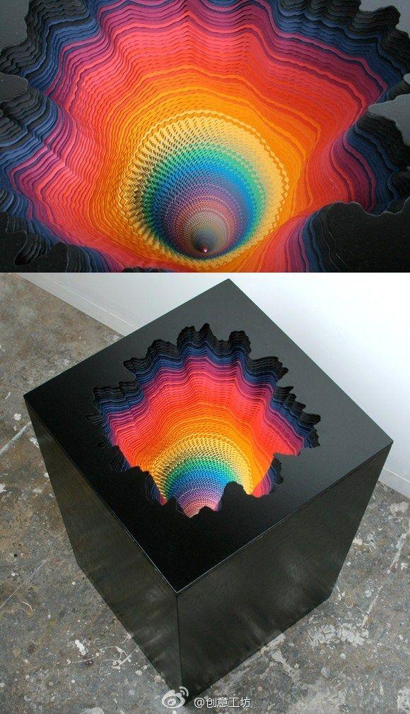Hypnosis Handmade Paper Sculpture, Kaleidoscope