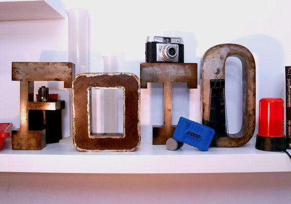 Retro style letters FOTO Photo iron sheet by Neighbourhook, €250.00