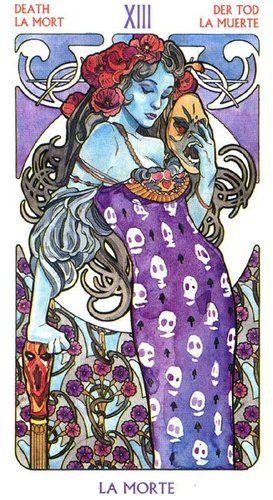 Rebirth Divination Card: Tilicst: Lacartetreizieme: Art Nouveau Tarot By Pietro