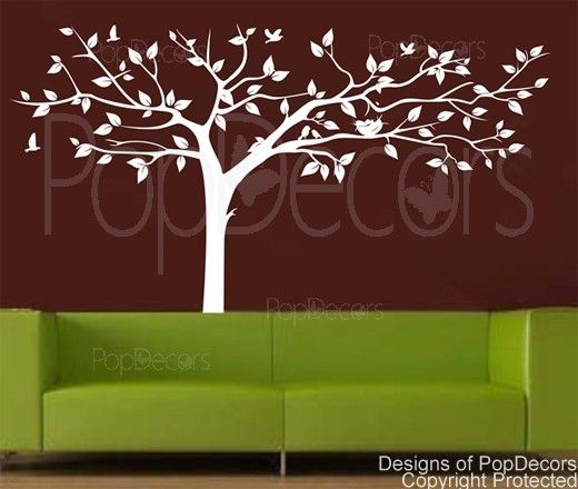 Popdecors super big w custom beautiful tree wall decals for kids rooms teen girls boys wallpaper murals sticker wall stickers nursery decor nursery