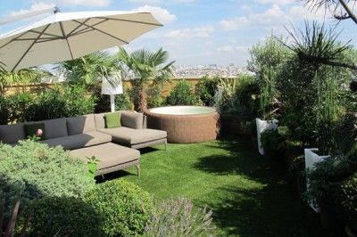 Comment amenager une terrasse d 39 appartement home terrasse pinterest rooftop rooftop for Amenager une terrasse exterieure