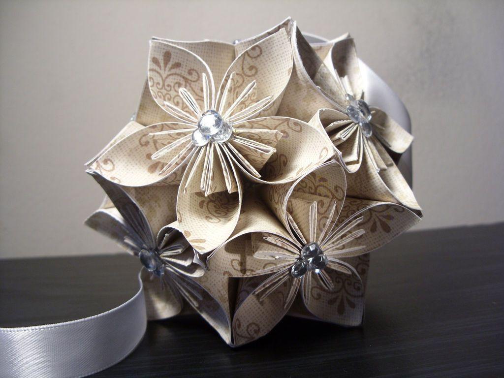 How To Make An Origami Kasudama Flower Ball Blossoms Flower