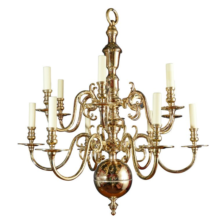 Brass Two Tiered 12 Light Chandelier 1stdibs Com Chandelier Vintage Chandelier Chandelier Lighting