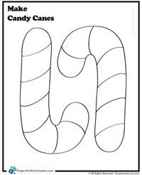 Big Candy Cane Coloring Page Candy Cane Coloring Page