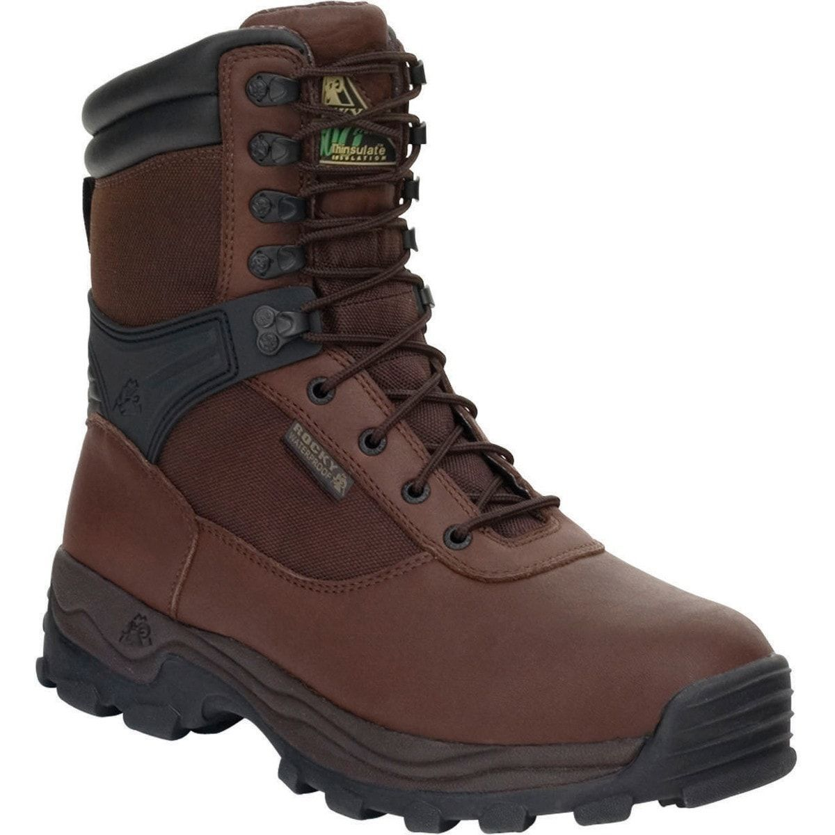 Rocky Mens Brown Leather Sport Utility Steel Toe