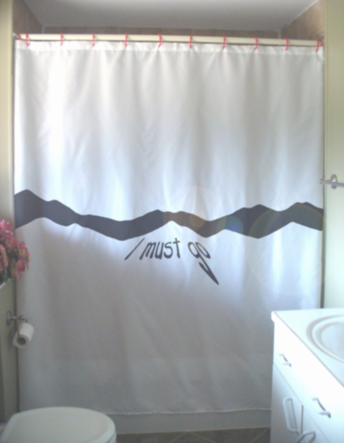 I MUST GO Shower Curtain to the mountain mountains are calling ...