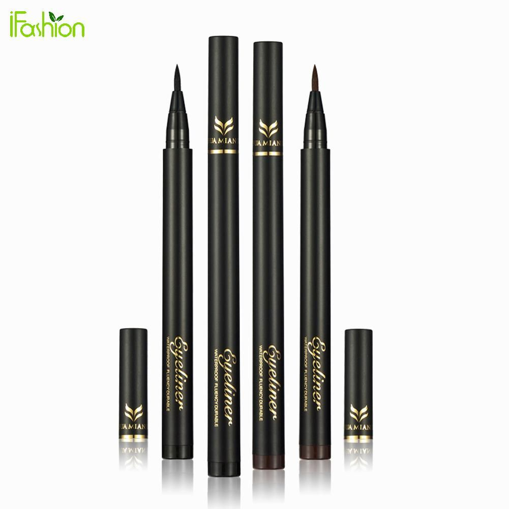 1 개/2 개 액체 아이 라이너 펜 연필 블랙 방수 오래 지속되는 아이 라이너 메이크업 화장품 아름다움 블랙/브라운 옵션