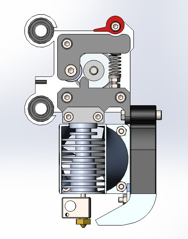 Yet another design of extruder for Prusa i3. X carriage is