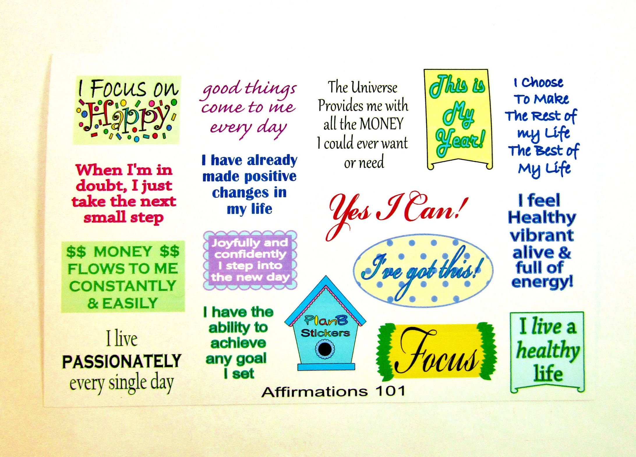 Positive Motivational Quotes Planner Stickers