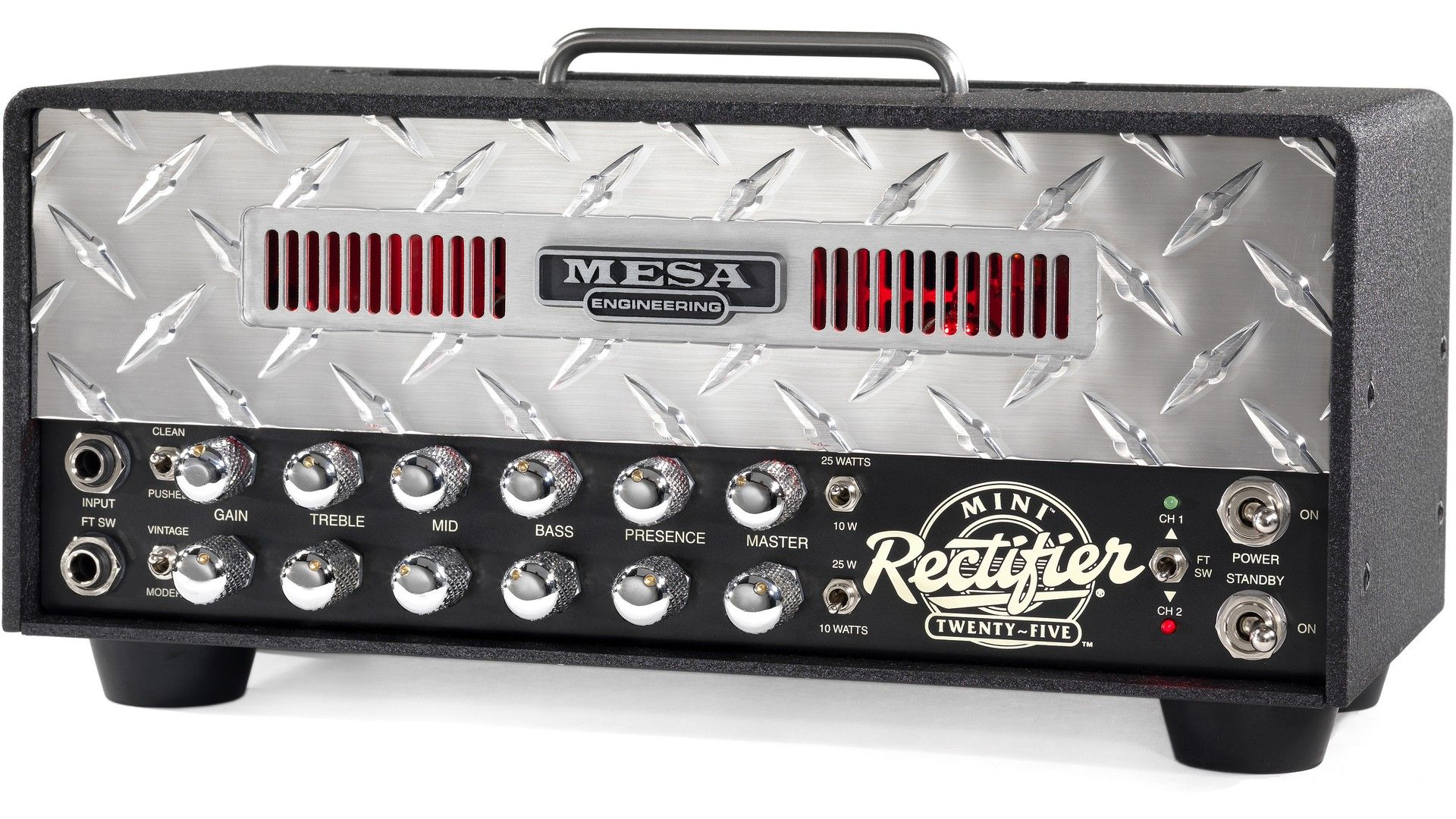 MESA/Boogie Mini-Rectifier Twenty-Five Testbericht: Brachiale Metal-Maschine für's Wohnzimmer - http://www.delamar.de/test/mesa-boogie-mini-rectifier-twenty-five-testbericht/?utm_source=Pinterest&utm_medium=post-id%2B35421&utm_campaign=autopost