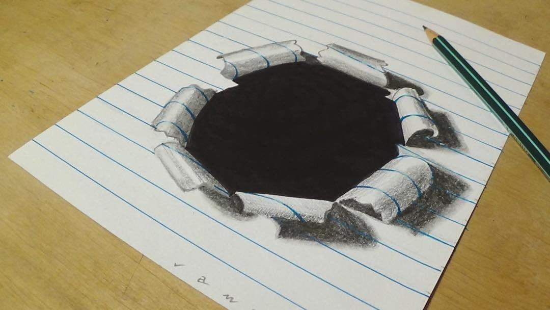 как нарисовать объемные рисунки из фото парик