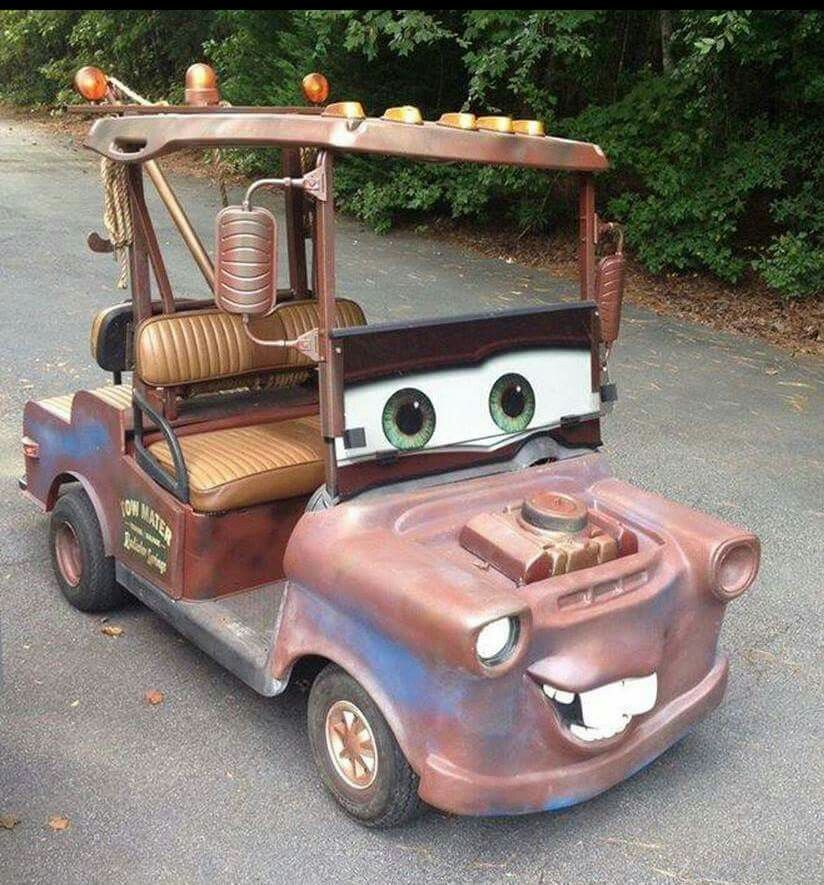 Turn your golf cart into one of the cars from the movie