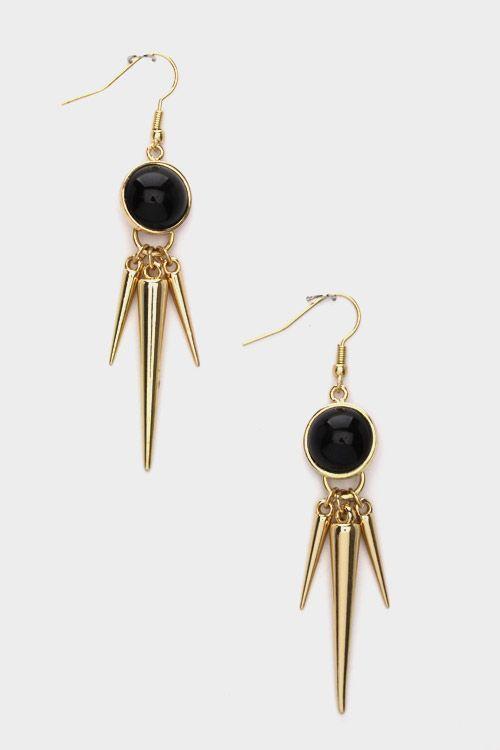 #Spiky Dangly #Earrings  $13.00
