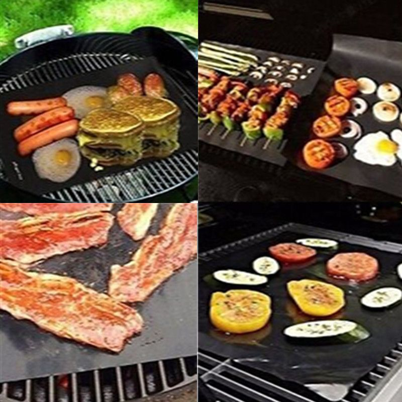 Bbq Grill Mat Reusable Resistant Non Stick Barbecue Baking Sheet