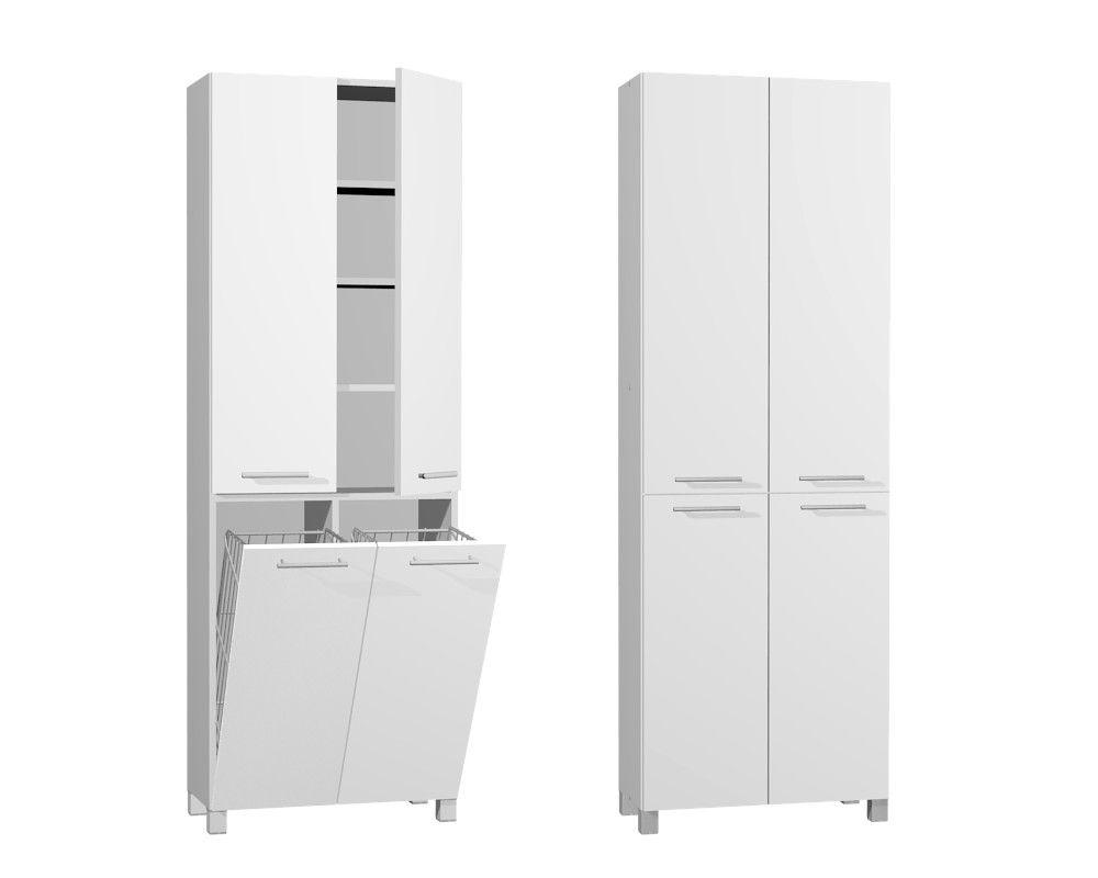 Slupek Lazienkowy Z Koszem Bialy Madryt 60 Plus Tall Cabinet Storage Locker Storage Storage Cabinet