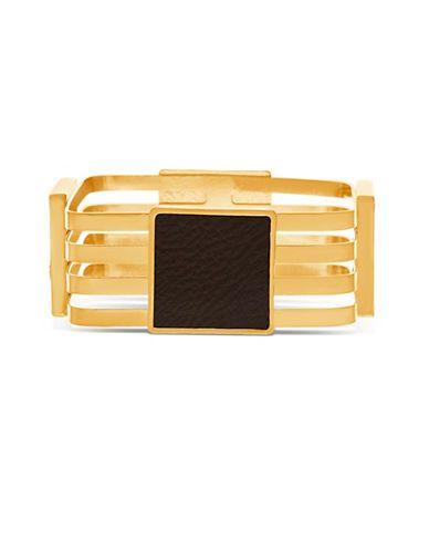 Steve Madden Goldtone Four Strand Station Bangle Bracelet Women's Gold