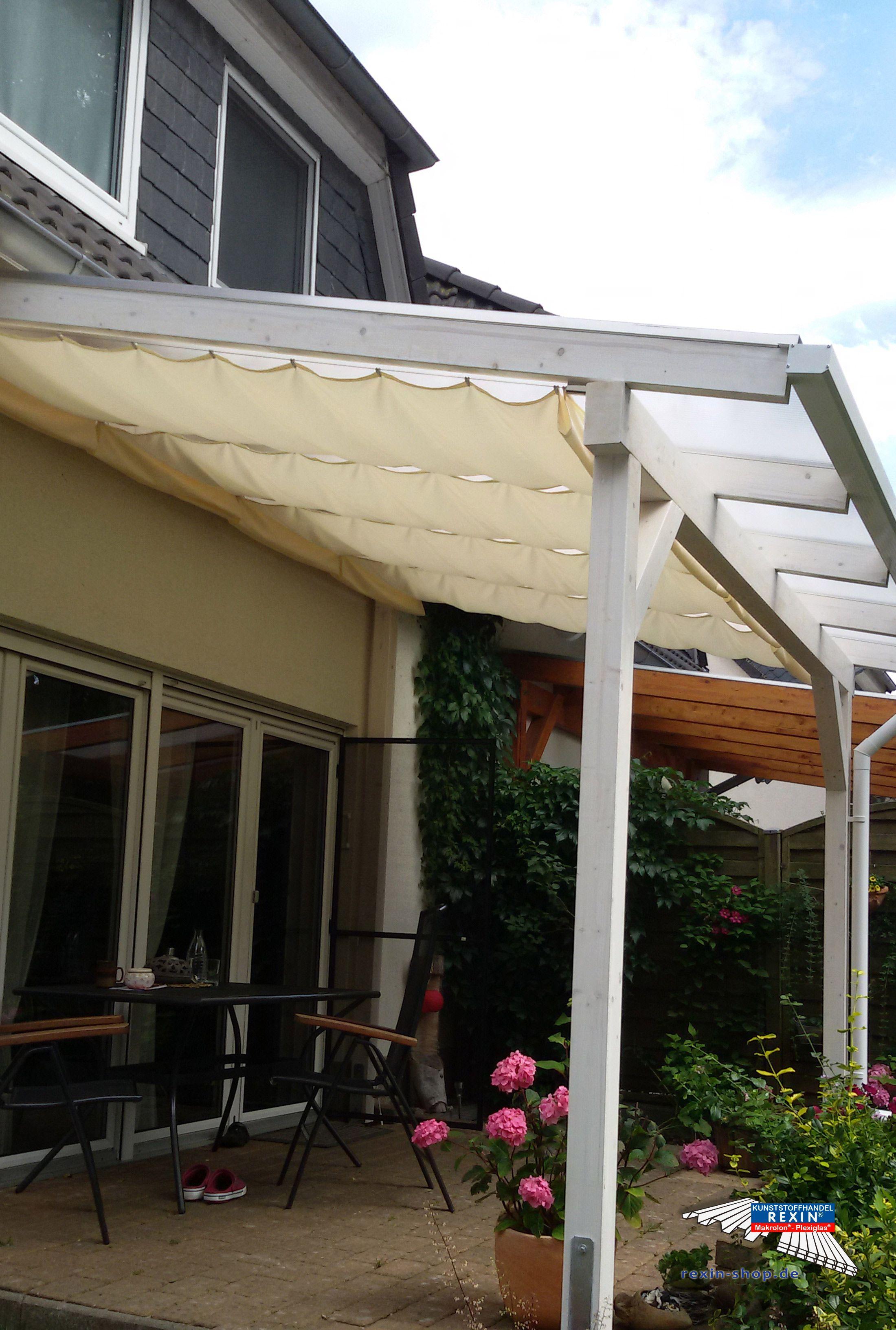 ein holz terrassendach der marke rexocomplete 4m x 3m in wei mit eiskristall stegplatten f r. Black Bedroom Furniture Sets. Home Design Ideas