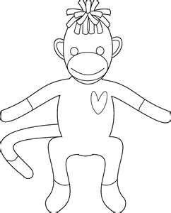 Pin By Shannon Williams On Sock Monkey Monkey Coloring Pages Chibi Coloring Pages Sock Monkey Party