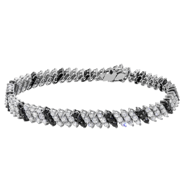 Best to make her smile, this stunning bracelet features sparkling ...