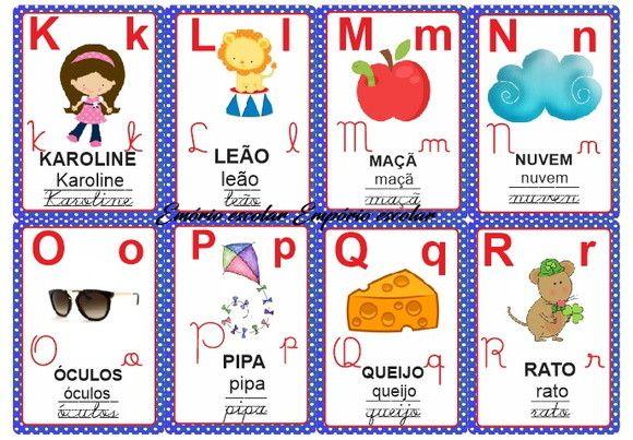 Alfabeto Ilustrado Varal Letra Cursiva Alfabeto Ilustrado Letra