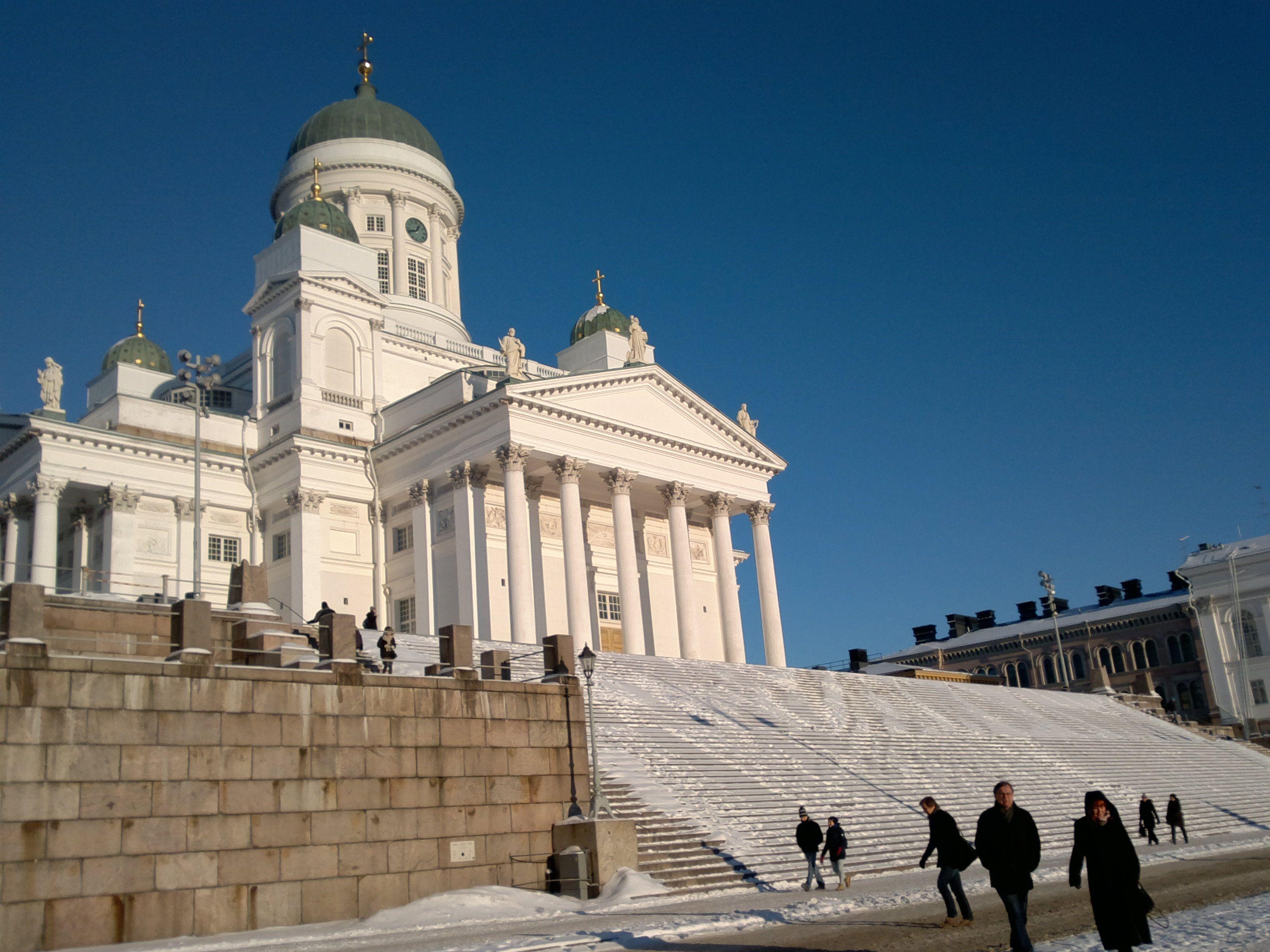 Kävin Helsingissä teologien seurakuntaharjoittelua varten tapaamisessa.