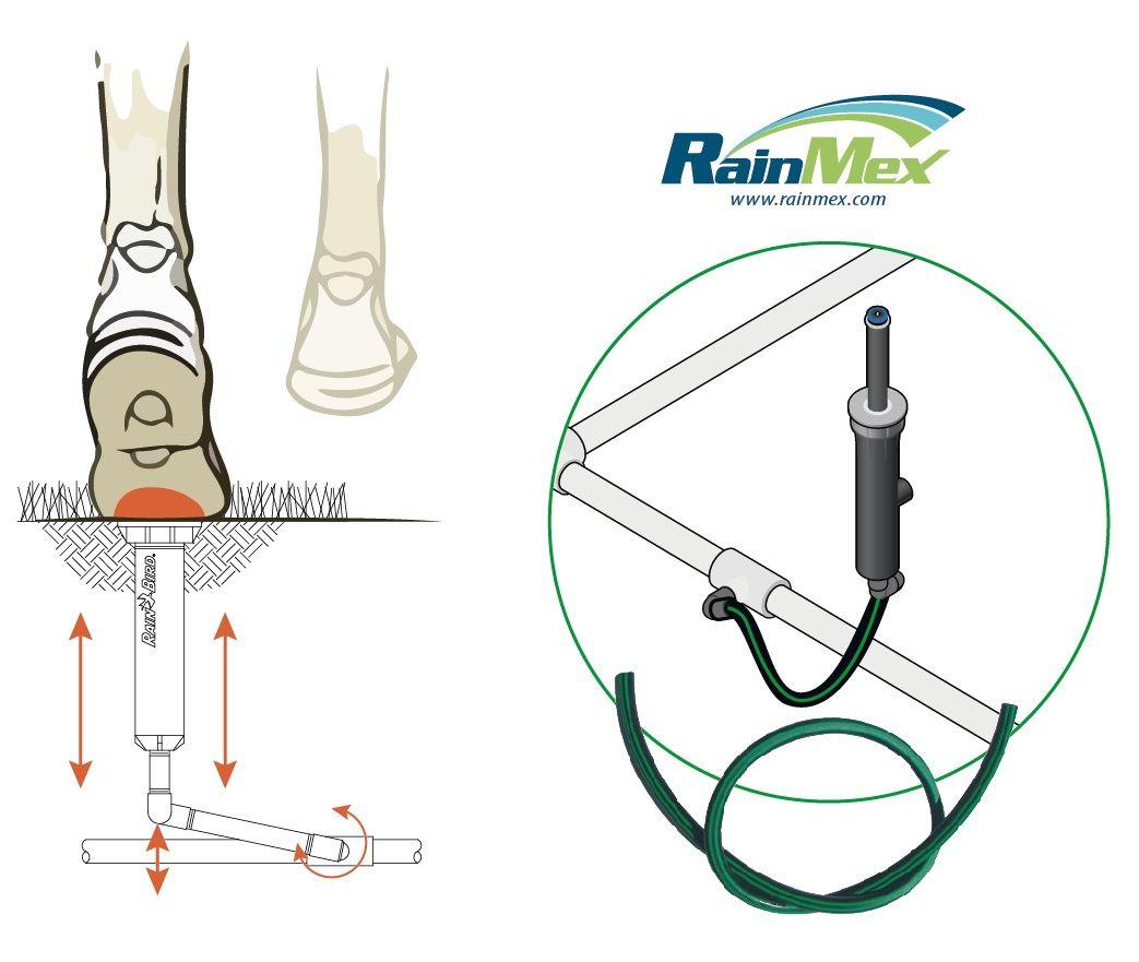 sistema de riego autom/ático de agua para c/ésped giratorio de 360 /° accesorio de rociador de agua giratorio de 3 brazos con conectores de manguera r/ápidos Aspersor de jard/ín WILTEEXS