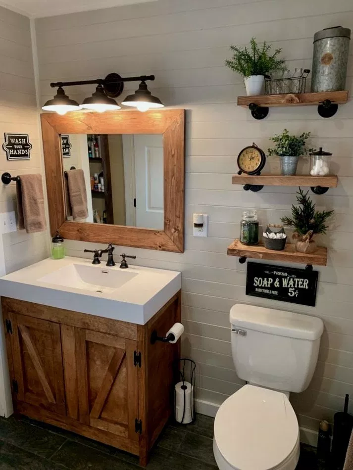 21 Delicate Bathroom Design Ideas For Small Apartment On A Budget Delicatebathroom Bathroomid Farmhouse Bathroom Decor Small Bathroom Remodel Small Bathroom