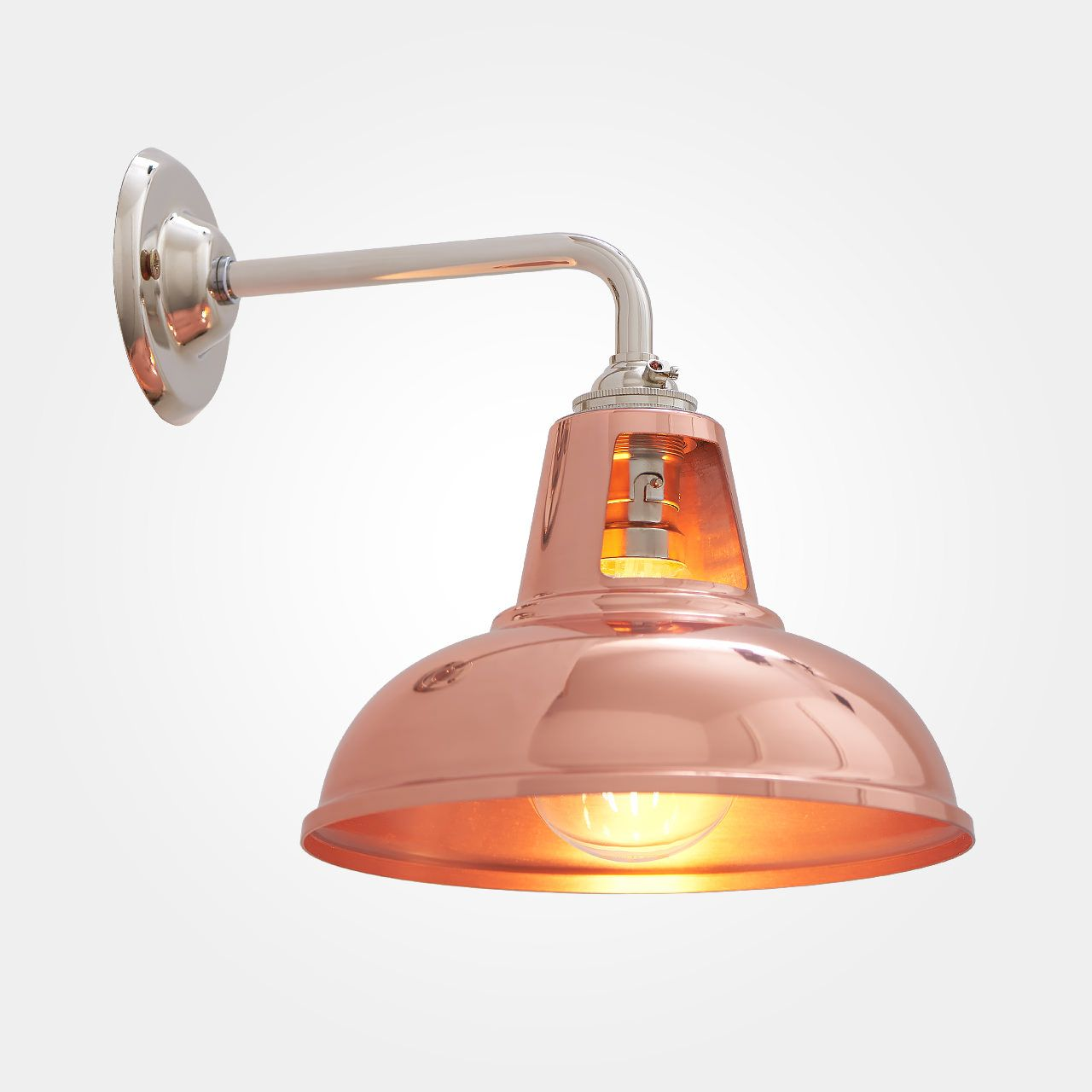 Vintage Copper Wall Lights : Coolicon Wall Light - Copper Interiors, Vintage style and Copper