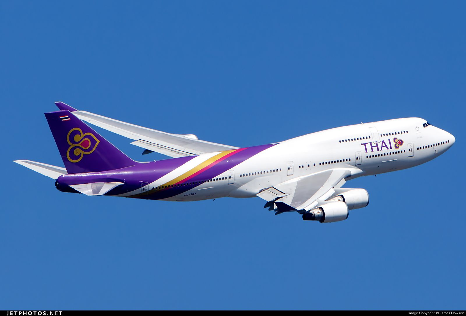 Photo of HS-TGY Boeing 747-4D7 by James Rowson