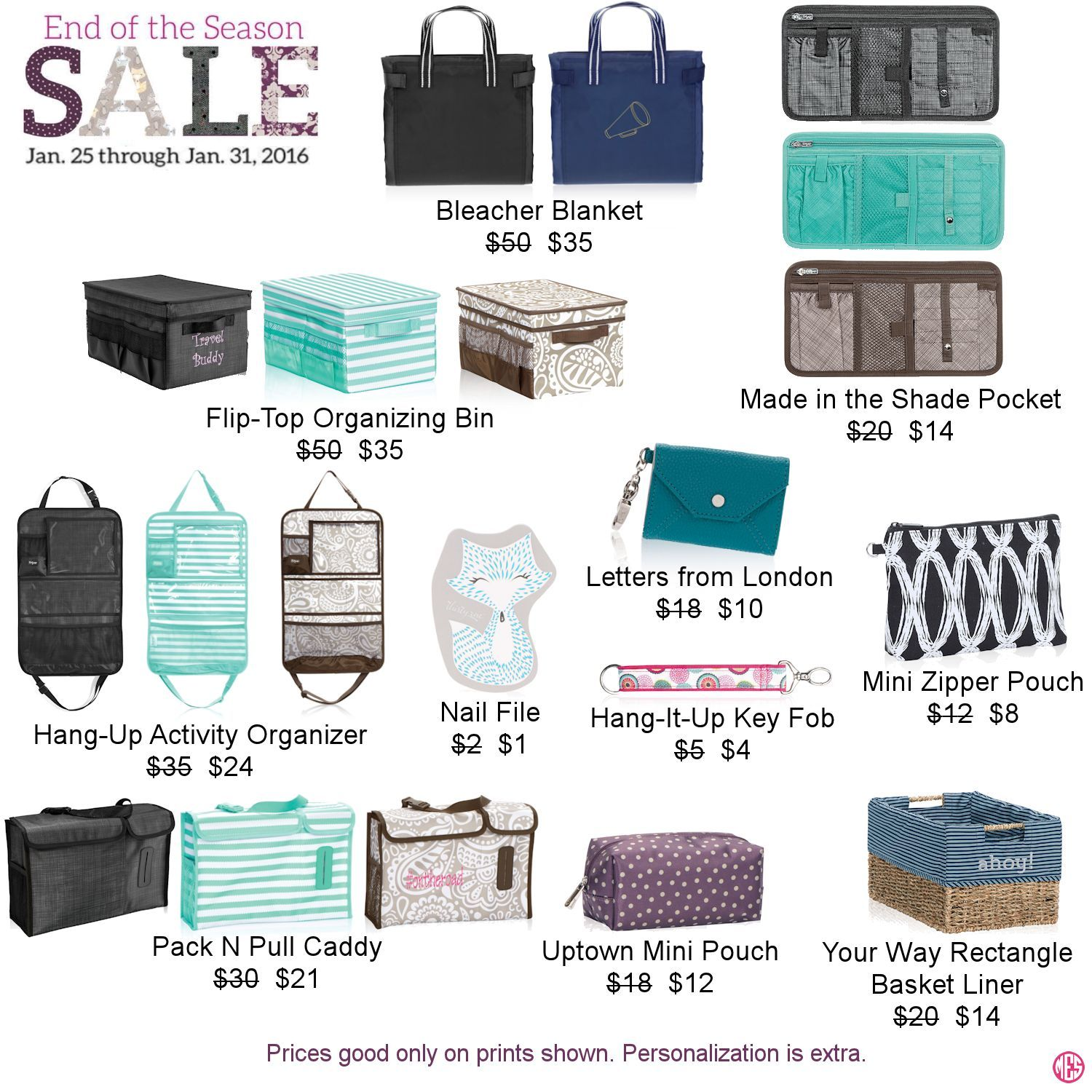 Thirty-One's End of the Season Sale starts January 25th. Click to order!