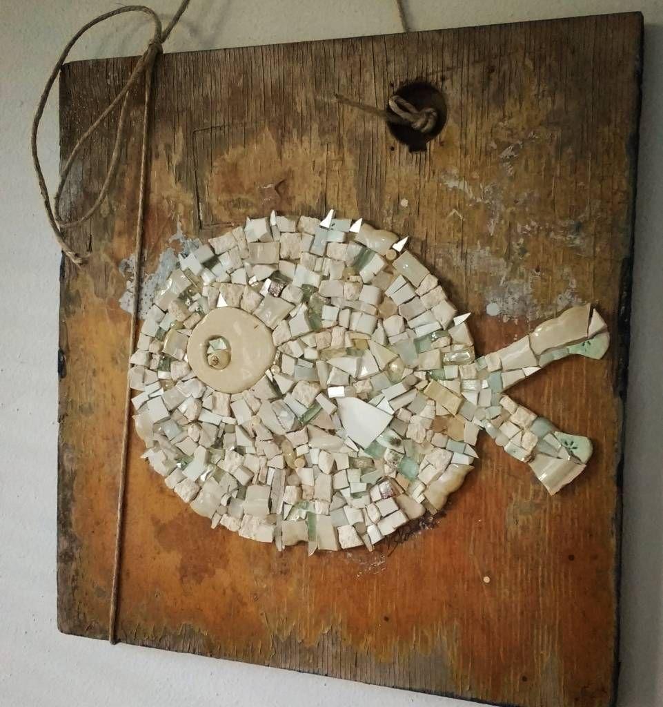 """""""Pesce Palla"""" quadro a mosaico (di NonSoloPesci di Rossella Casadio)"""