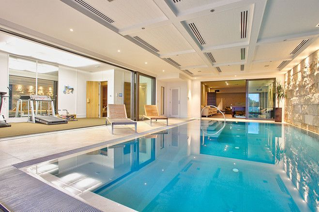 Cliff Top Panorama In Auckland Indoor Swimming Pool Design Luxury Pools Swimming Pool Designs