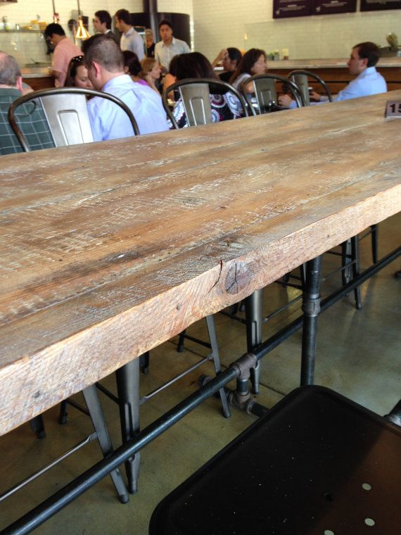 Reclaimed Wood Kitchen Island Dining Table Conference Table Top
