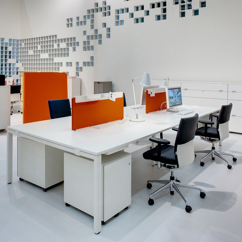 Vitra Workit Office Bench Desk System Provides A Flexible Easy To Re Configure Furniture Beam Desking Platform Desks From Apres