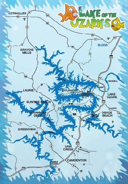 Lake Of The Ozarks Fishing Map : ozarks, fishing, Ozarks., Eliminate, Unproductive, Water,, Gives, Starting, Place, Seasonal, Ozarks, Ozarks,