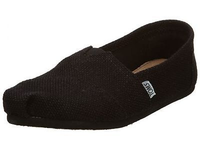 f165914698e Toms Burlap Classics Womens 001004B11-BLK Black Casual Slip On Shoes Size 7