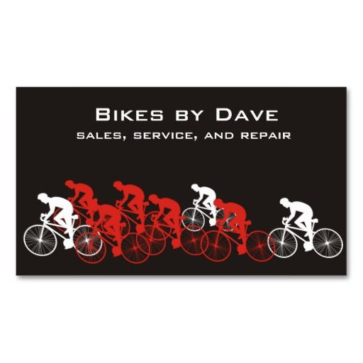 Speed racing cyclists bike bicycle business cards