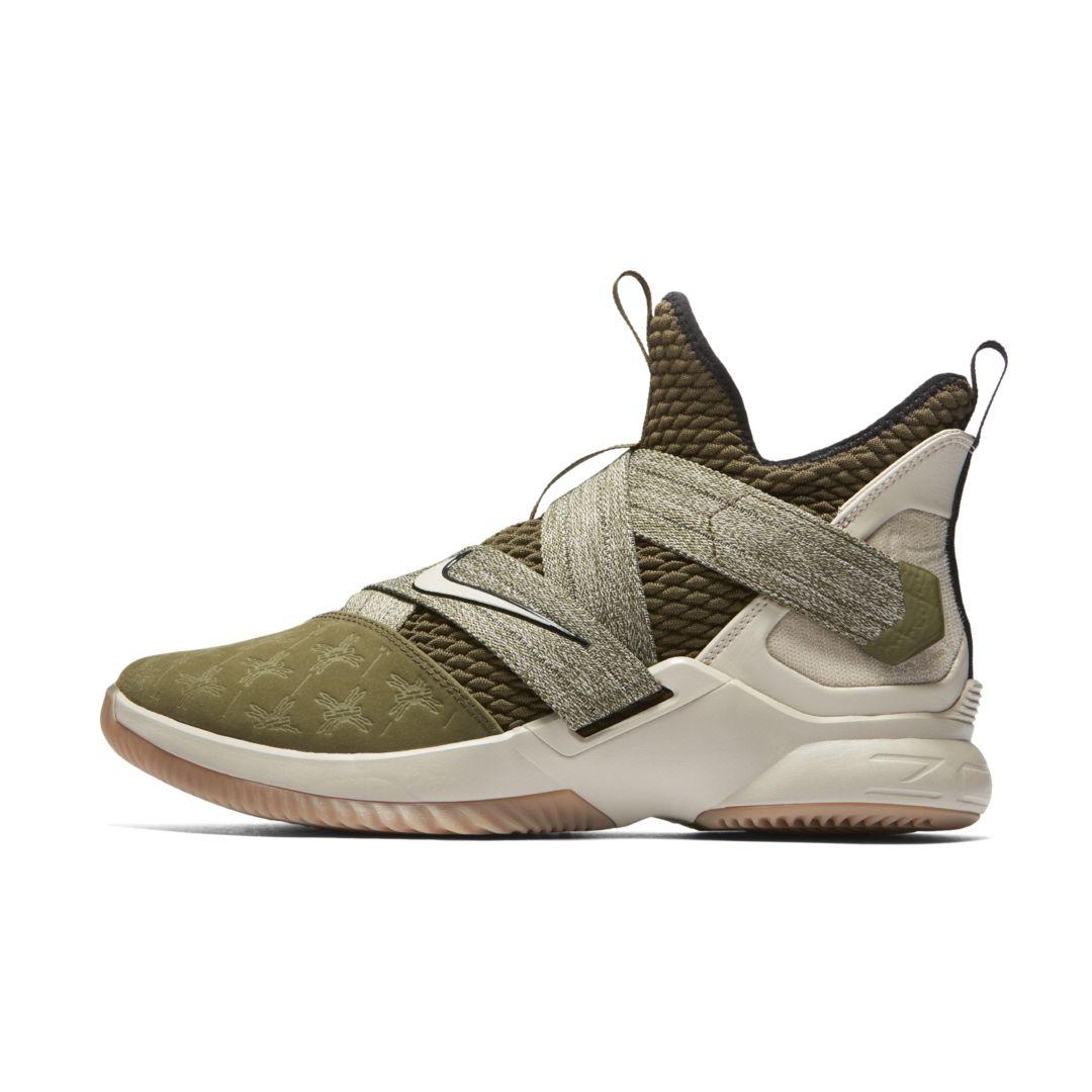 4df287c9742813 LeBron Soldier 12 Basketball Shoe Size 18 (Olive Canvas)