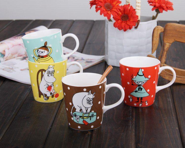 240ml Creative Cartoon Anime Moomin Coffee Travel Mug Oblique Wave