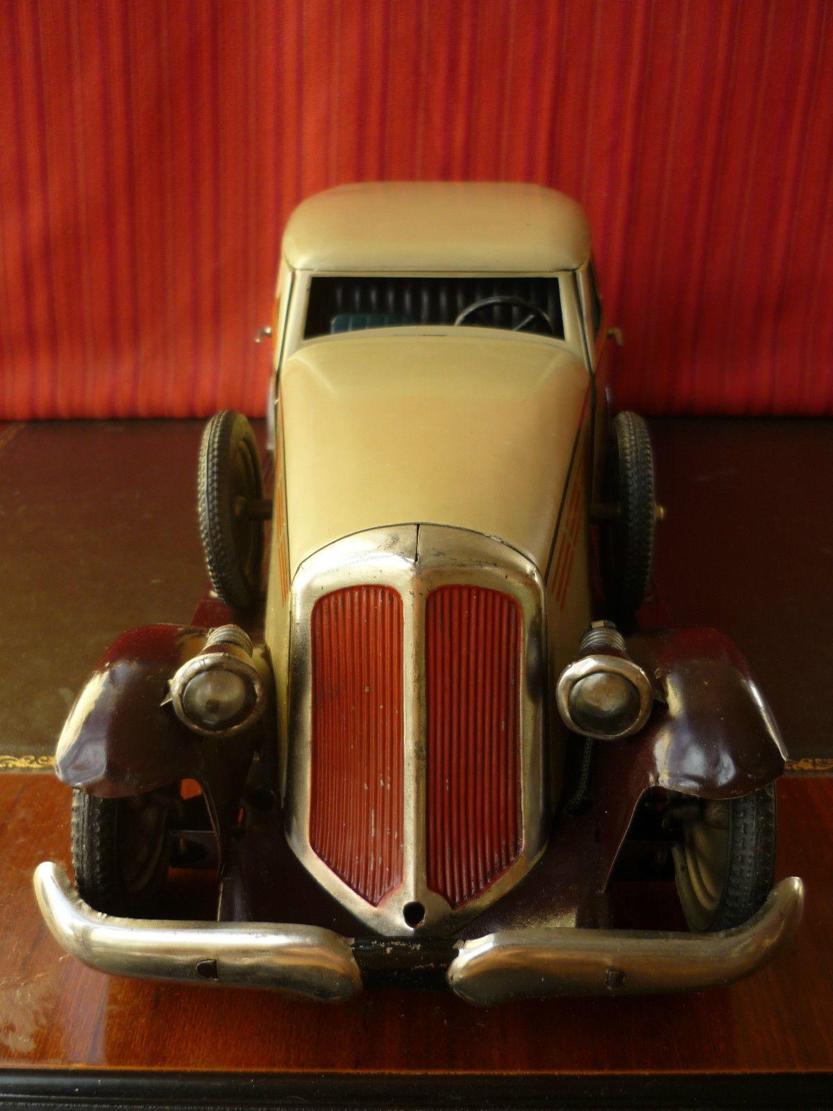 Extr Rare 50cm Original 1930s PAYA Tin Windup Horch Gran