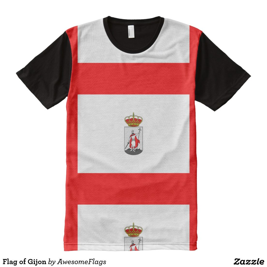 Flag of Gijon All-Over Print T-Shirt