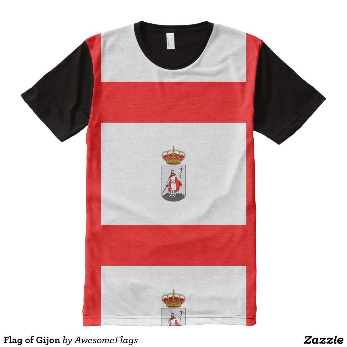 Flag of Gijon All-Over Print T-Shirt