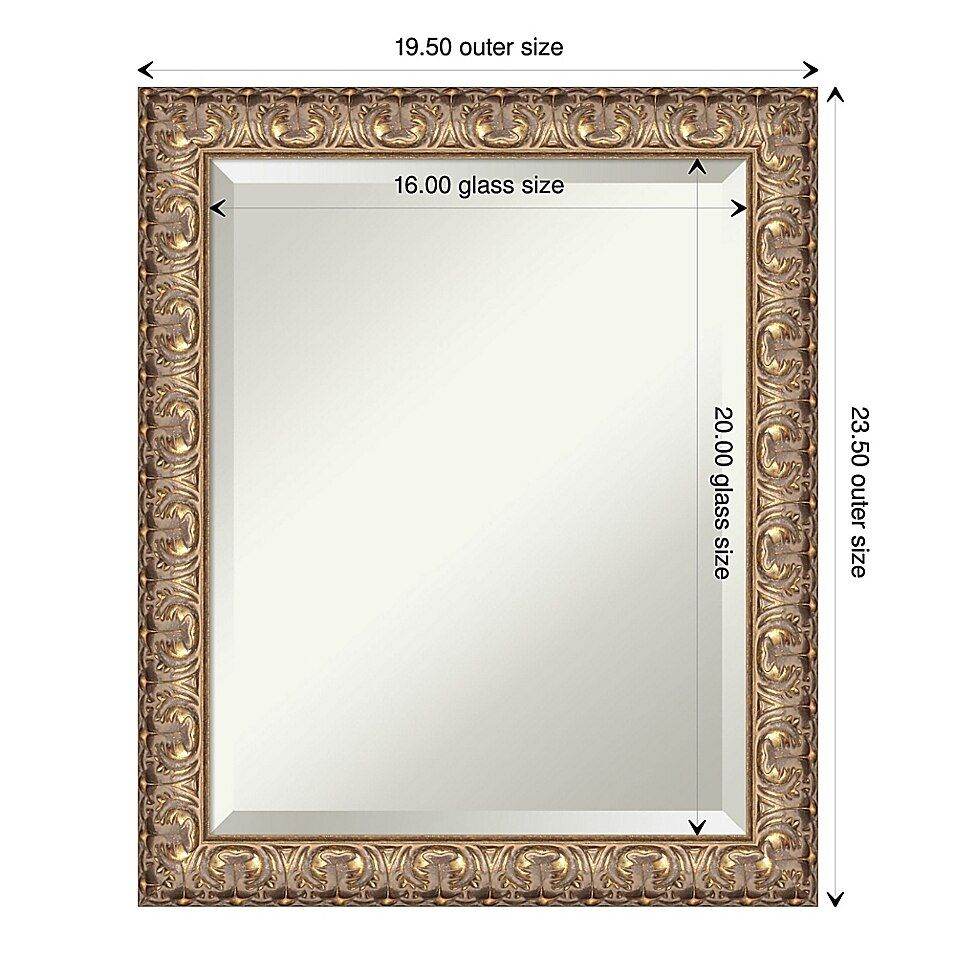Amanti Art Florentine 20 X 24 Rectangular Wall Mirror In Gold Amanti Art Mirror Mirror Wall 20 x 24 mirror