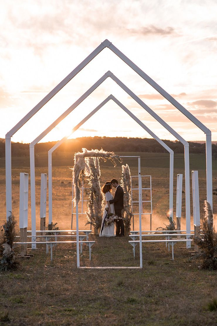 Romantic Country Wedding Inspiration with an Open Air Chapel ...