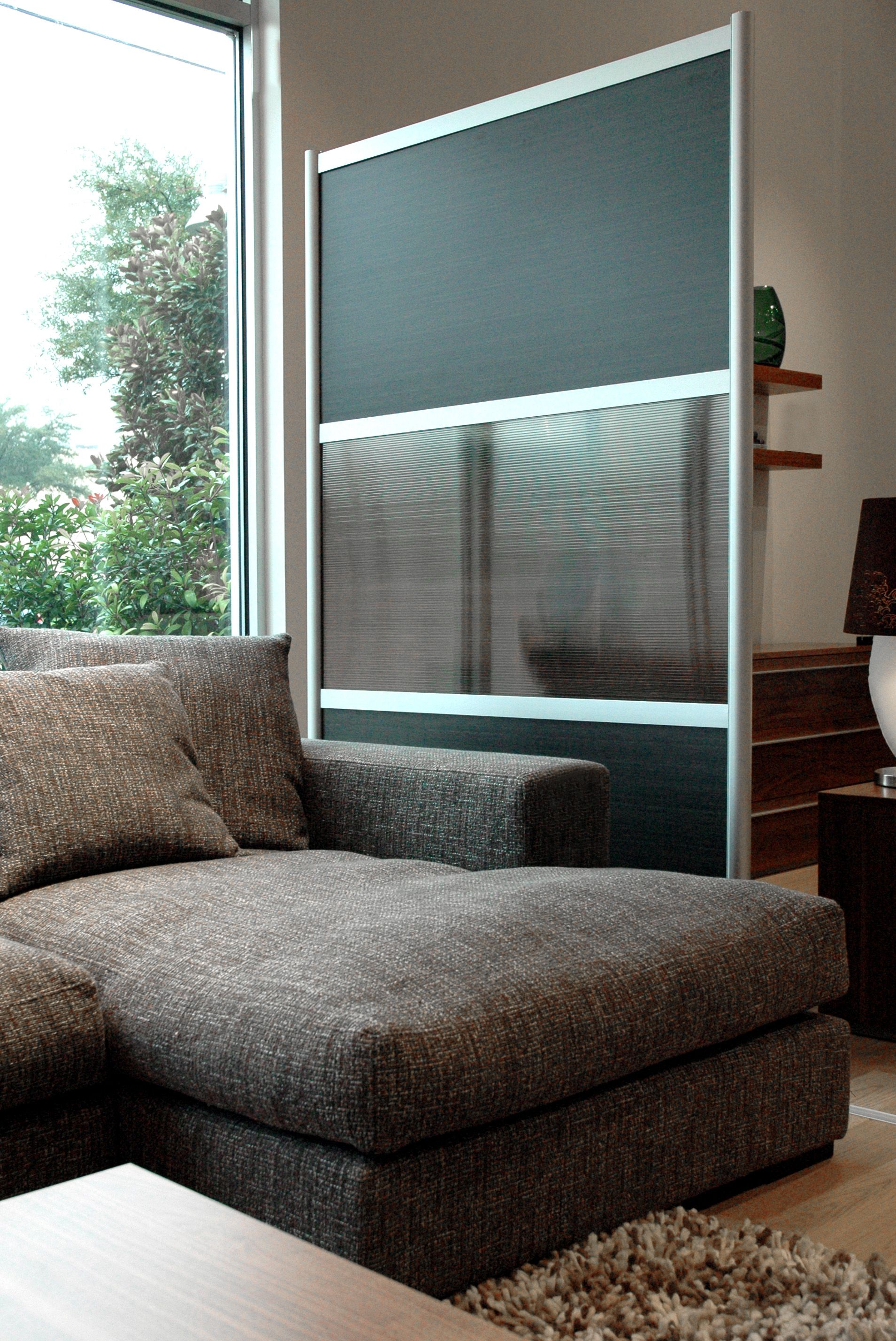 U screen with translucent u wood laminate panels u divider walls